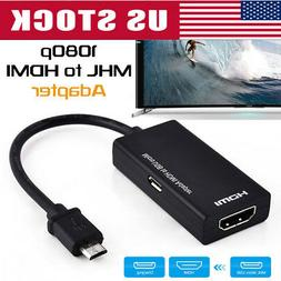 1/2 MHL Micro USB Male to HDMI Female Adapter Cable for Andr