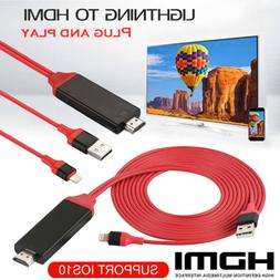 1080P 6ft 8 Pin Lightning to HDMI TV AV Adapter Cable for iP