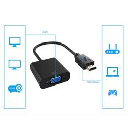 1080P HDMI Male to VGA Female Video Cable Cord Converter Ada