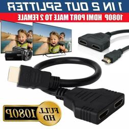 1080P HDMI Splitter Male to Female Cable Adapter Converter H