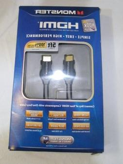 Monster 121989 Just Hook it Up HDMI Cable, 5-Feet