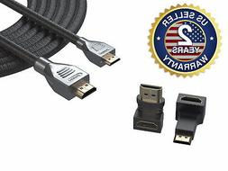 12 Ft Mini-HDMI to HDMI Cable for Canon EOS 6D 7D 60D 70D M