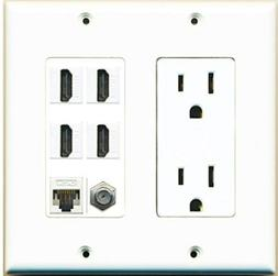 15a power outlet 4 hdmi 1 cat5e
