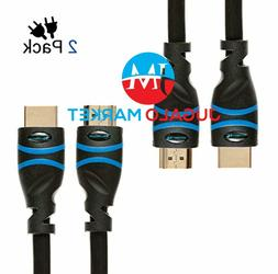 BlueRigger 2-Pack High Speed HDMI Cable  - Supports 4K, Ultr