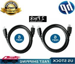 2 Pack High Speed HDMI Cable For BLURAY TV HDTV PS4 PS5 4K 3