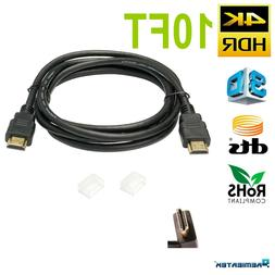 2 PACK ULTRA HDMI 2.0 CABLE HDTV UHD Ethernet 4K x 2K 3D Aud