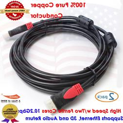 2Pack, Ultra Series 15ft 10.2Gbps High Speed HDMI Cable w/Fe