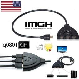 3 Hdmi Port Switch Switcher Splitter Selector HUB Box Cable