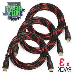 3 pack high speed 4k hdmi cables