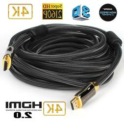 30FT HDMI Fiber Optic Cable 2.0b Premium High Speed 18.2Gbps