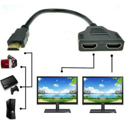 4K HDMI Cable Splitter Adapter 2.0 Converter 1 In 2 Out 1 Ma