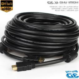50Ft 15M 1.4 HDMI To HDMI M/M Cable Gold-Plated 1080P HDTV L