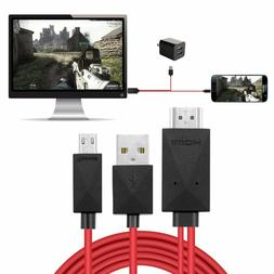 6.6ft 11Pin MHL to HDMI Adapter Cord for Micro USB Samsung t
