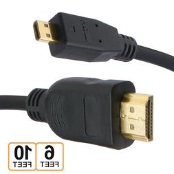 6FT 10FT Micro HDMI Cable for GoPro Hero 7, Raspberry Pi 4,
