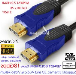 Ultra-HD  4K HDMI 2.0 Cable  3D Lead