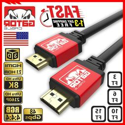 8K HDMI 2.1 UHD Cable HDTV 3D 4K 2160P HDR 120Hz 48Gbps Dolb