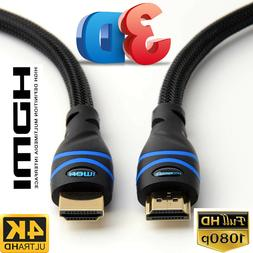 BlueRigger Rugged High Speed HDMI Cable - 6.6 Feet  - Nylon