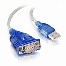 C2G / Cables to Go 26886 USB To DB9 Male Serial Adapter, Blu