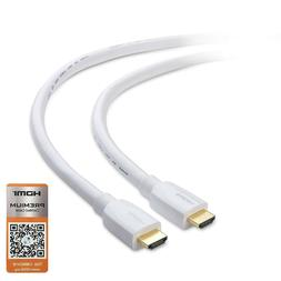 Cable Matters Premium Certified White HDMI Cable  with 4K HD