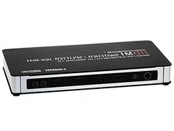 Monoprice 105704 4 x 4 True Matrix HDMI Switch/Splitter with