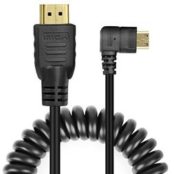 UCEC Right-Angled Coiled Mini HDMI to HDMI Male Cable High S