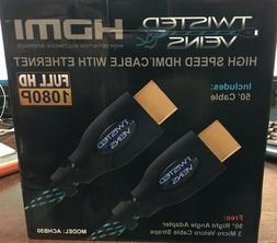 Twisted Veins ACHB50 HDMI Cable, 50 FT, Long High Speed HDMI