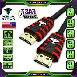 4K Ultra UHD HDMI 2.0 Cable 2160P 3D LED HDTV HDR 18Gbps 120
