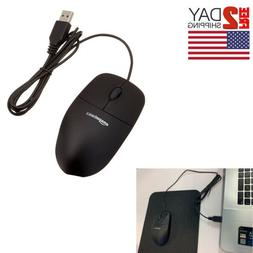 Amazon Basics 3-Button USB 1.5 Meter Wired Optical Mouse Smo