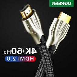 Ugreen Braided Ultra HD HDMI Cable V2.0 High Speed 2160P 4K