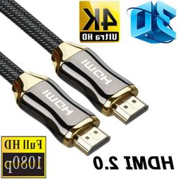 Braided Ultra HD HDMI V2.0 Cable High Speed Ethernet HDTV 21