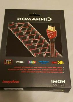 BRAND NEW IN BOX AudioQuest 1m Cinnamon HDMI Cable 1 meter H