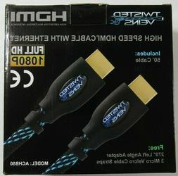 Twisted Veins Cable ACHB50 50 ft. High Speed HDMI Cable with