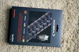 AUDIOQUEST CARBON HDMI CABLE 1M NEW IN BOX  ROCK BOTTOM PRIC