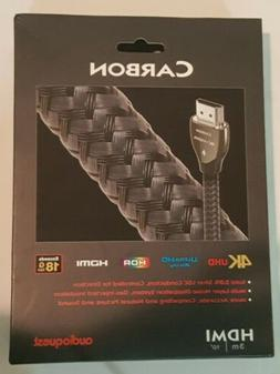 Audioquest CARBON HDMI Cable 3M  Brand New Retail Packaging