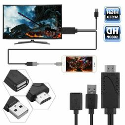 Cell Phone To TV HDMI Cable Adapter HDTV For Samsung Galaxy