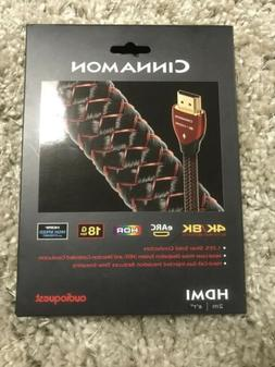 Audioquest Cinnamon HDMI Cable 2m 4K/8K HDR 18Gbps NEW