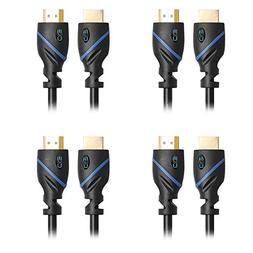 C&E 4 Pack, High Speed HDMI Cable With Ethernet, CL3 Certifi