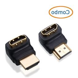 Cable Matters 2-Pack 90 Degree Right Angle HDMI Adapter