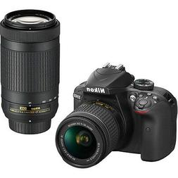 Nikon D3400 DSLR Camera 24.2MP With 18-55mm and 70-300mm Len