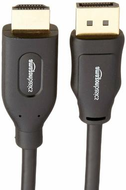AmazonBasics DisplayPort to HDMI Display Cable - 6 Feet Blac