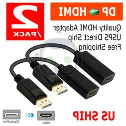 DP Displayport Male to HDMI Female Cable Converter Adapter f