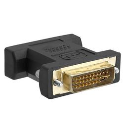 Cmple - DVI-I Dual Link Male to HD15  Female Adapter GOLD