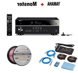 Yamaha Expandable Audio & Video Component Receiver,Black  +
