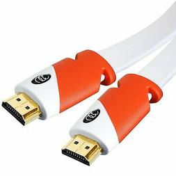 Flat HDMI Cable 20 ft - High Speed HDMI Cord - Supports, 4K