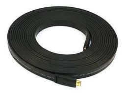 Flat HDMI Cable,Std Spd,Black,30ft,24AWG MONOPRICE 4163