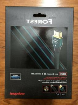 AudioQuest Forest HDMI Cable New in Box 1M 1 Meter