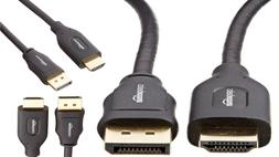 AmazonBasics Gold Plated DisplayPort to HDMI Cable - 6 Feet
