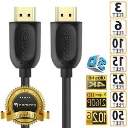 HDMI Cable 1.4 4K 3D HDTV PC Xbox ONE PS4 High Speed Plug 3