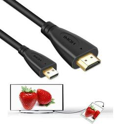 PwrON Micro 1080P HDMI HD A/V TV Cable Cord for Nikon Coolpi