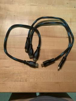 """Twisted Veins HDMI 18"""" Cable High Speed"""